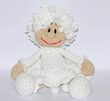 ... crochet pattern, amigurumi - snowflake - pdf, English or German