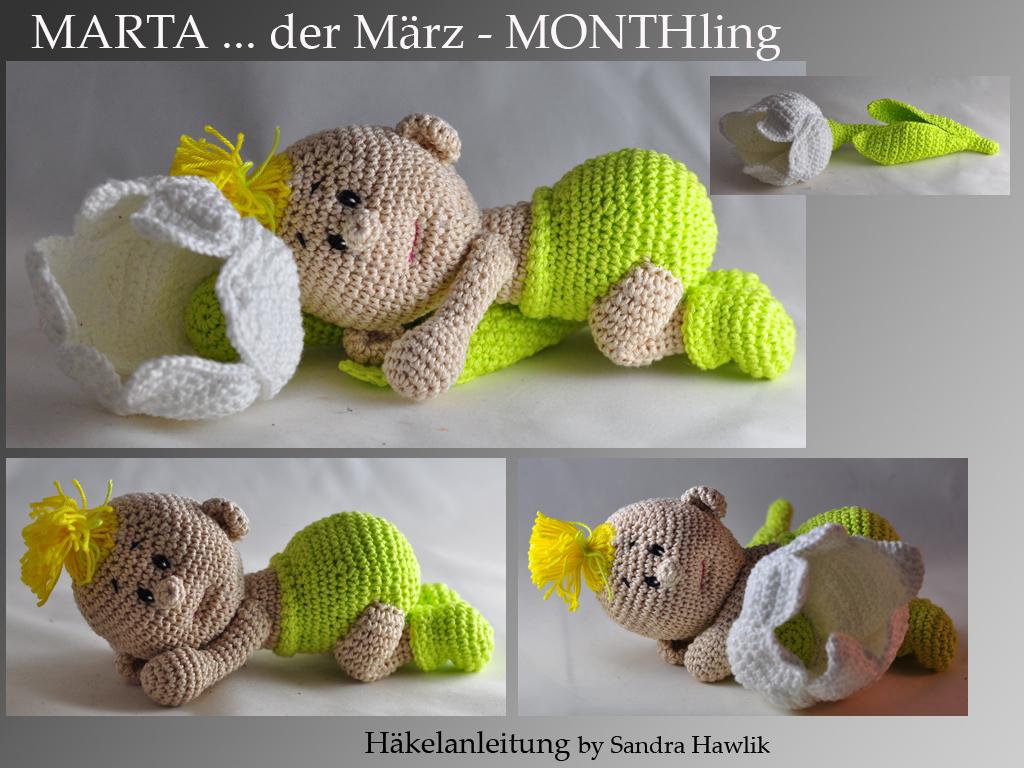 Kunterbunte Häkeltiere - - Häkelanleitung, DIY - Monthling Marta ...