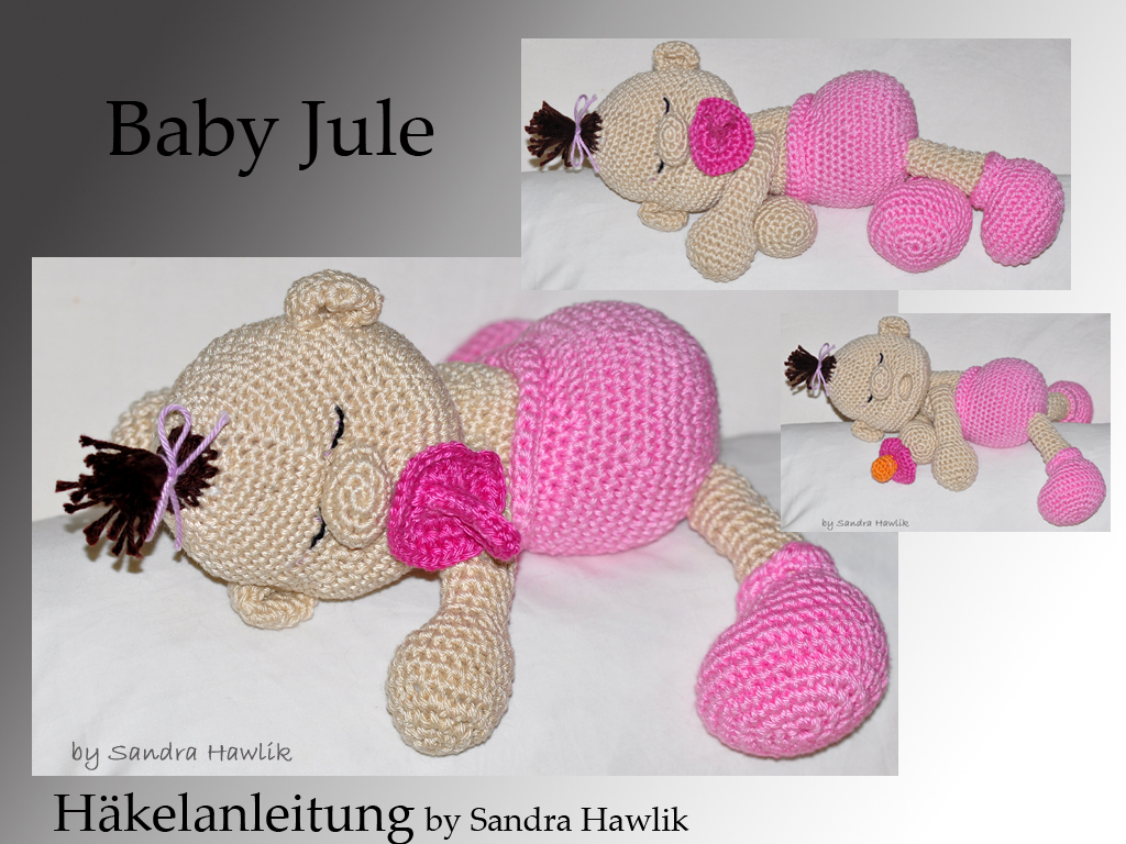 ... crochet pattern, amigurumi - baby Jule - pdf, English or German