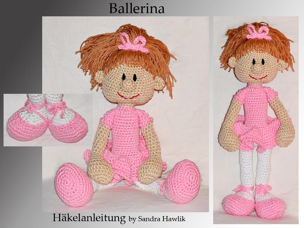 Kunterbunte Häkeltiere - - Häkelanleitung, DIY - Ballerina/ Tänzerin ...