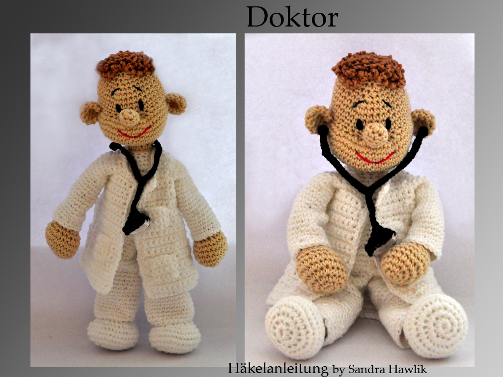 Kunterbunte Häkeltiere - - Häkelanleitung, DIY - Arzt, Doktor ...