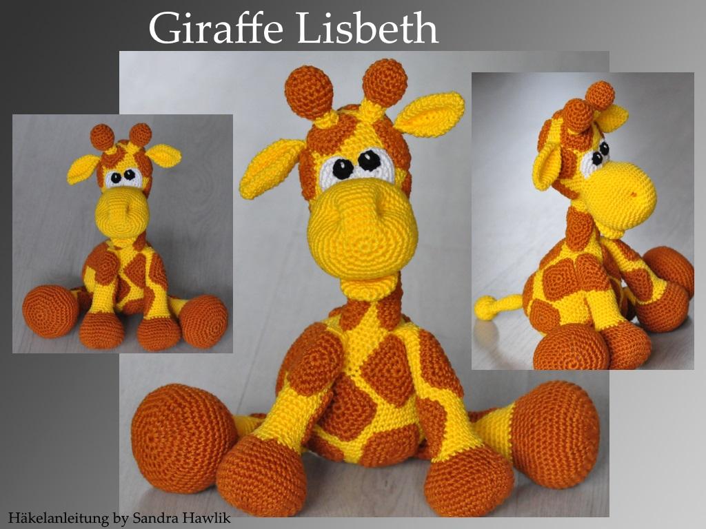 Kunterbunte Häkeltiere - - Häkelanleitung, DIY - Giraffe Lisbeth ...