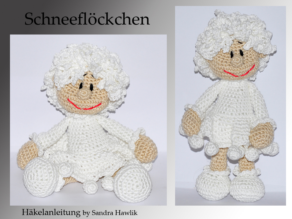 crochet pattern, english or german, snowflake