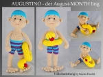 Häkelanleitung, DIY - Monthling August - AUGUSTINO - Ebook, PDF