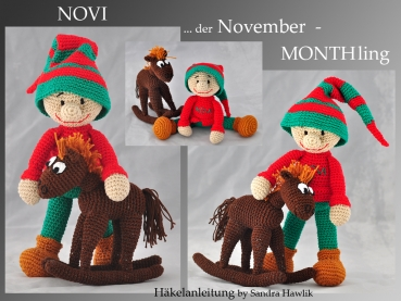 Häkelanleitung, DIY - Monthling November - NOVI - Ebook, PDF