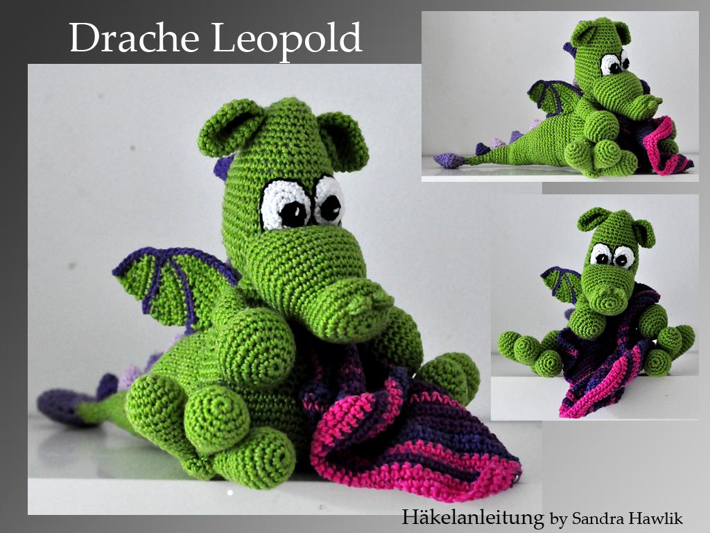 Kunterbunte Häkeltiere Häkelanleitung Diy Drache Leopold
