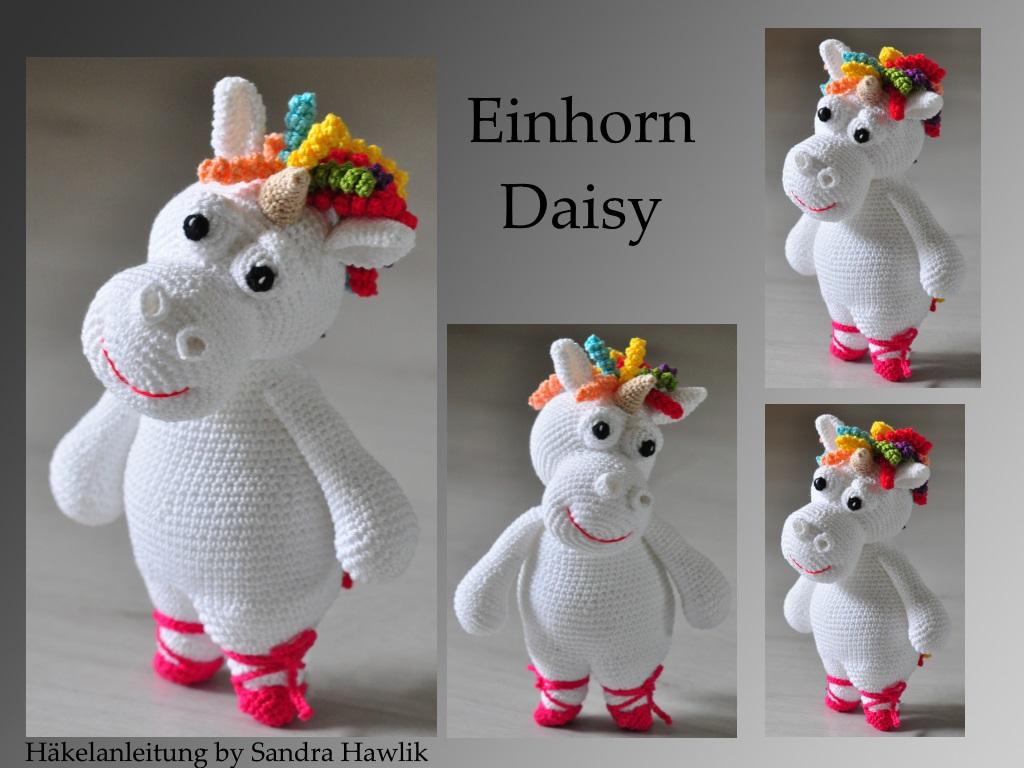 Kunterbunte Häkeltiere Häkelanleitung Diy Einhorn Daisy