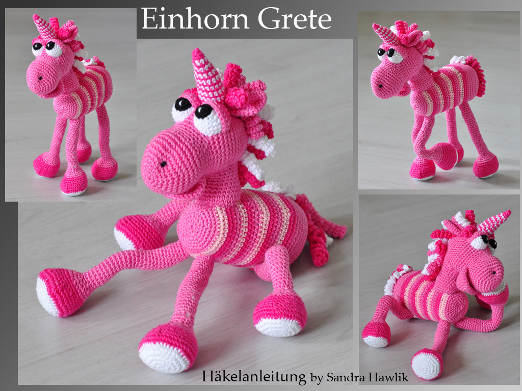 Häkelanleitung für Fluffy das Einhorn / diy knitting instruction ... | 768x1024