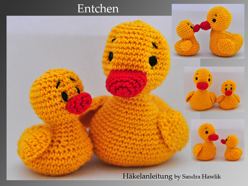 Crochet Pattern English Or German Duck And Duckling
