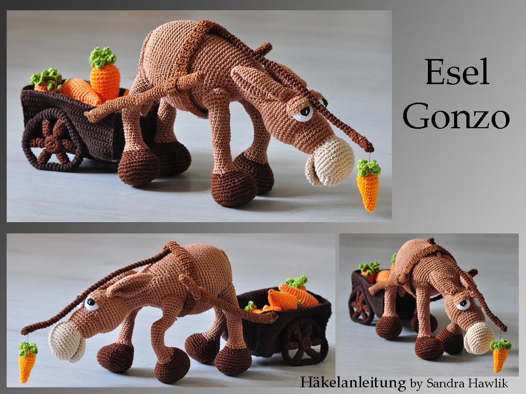 Kunterbunte Häkeltiere Häkelanleitung Diy Esel Gonzo Ebook Pdf