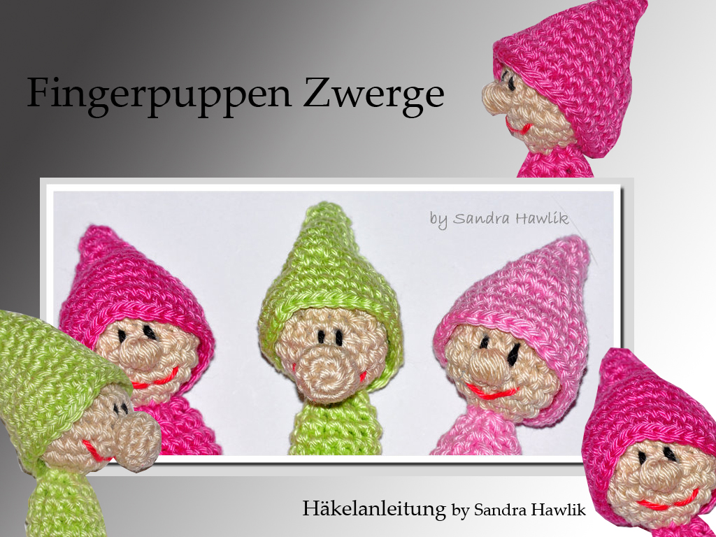Crochet Pattern English Or German Finger Puppets