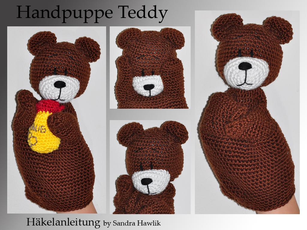 Kunterbunte Häkeltiere Häkelanleitung Diy Handpuppe Teddy Mit