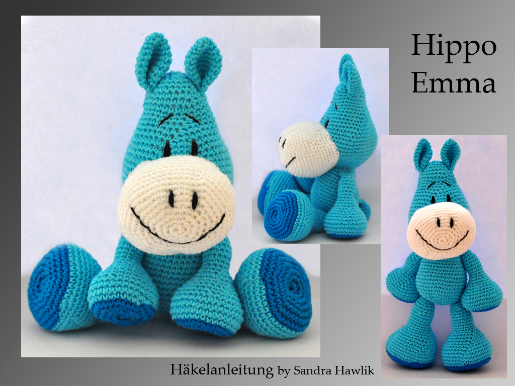 Hippo crochet PATTERN Amigurumi hippo toy Crochet animal | Etsy | 768x1024