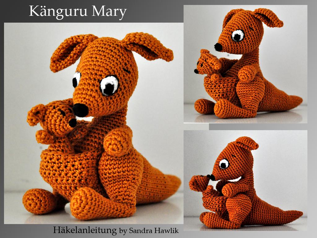 Kunterbunte Häkeltiere Häkelanleitung Diy Känguru Mary