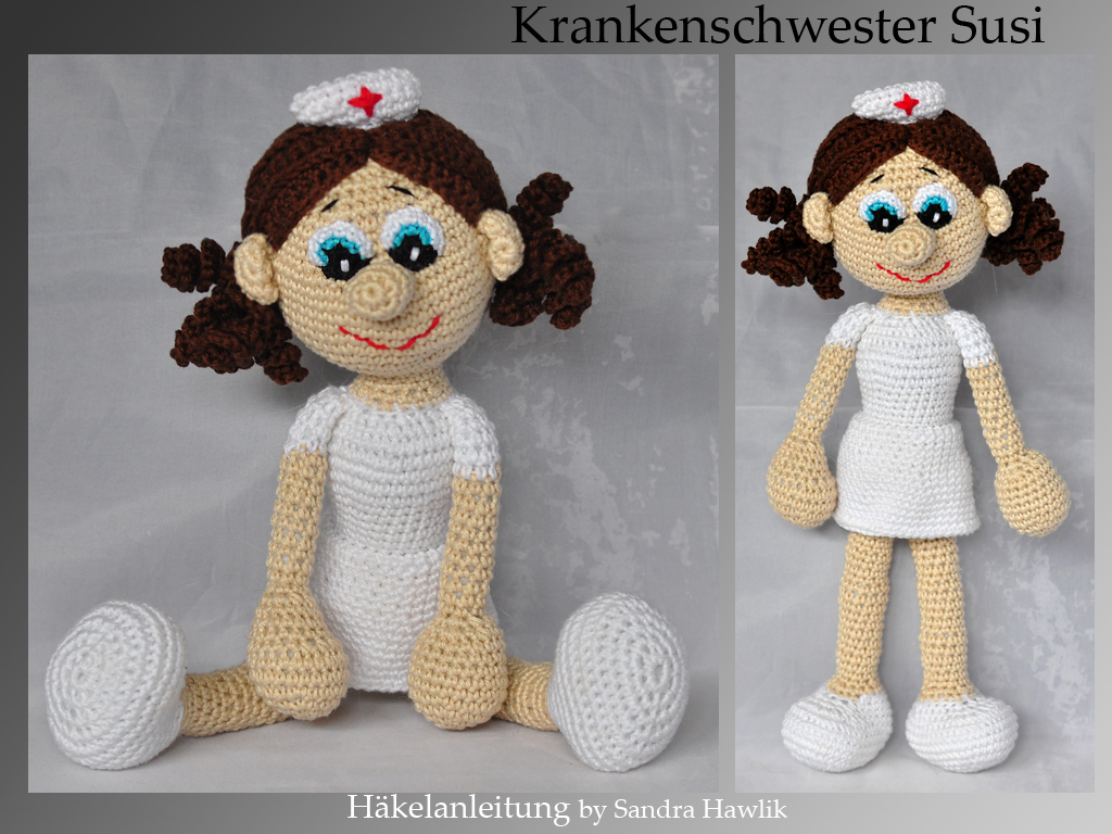 Amigurumi Crochet pattern miniature Frontline Doctor or Nurse ... | 768x1024