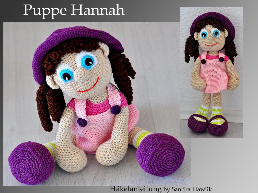 Kunterbunte Häkeltiere - - Häkelanleitung, DIY - Puppe Hannah ...