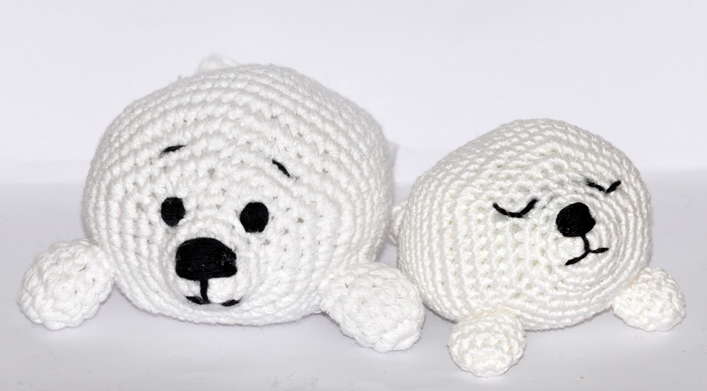 Crochet Pattern English Or German Baby Seals