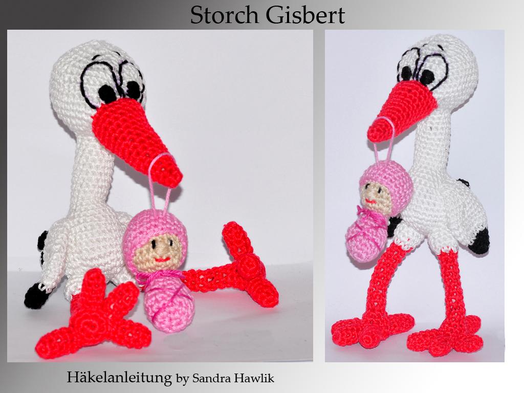 Kunterbunte Häkeltiere - - Häkelanleitung, DIY - Storch Gisbert mit ...