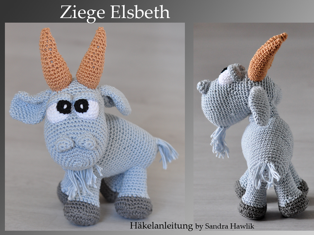 Kunterbunte Häkeltiere Häkelanleitung Diy Ziege Elsbeth