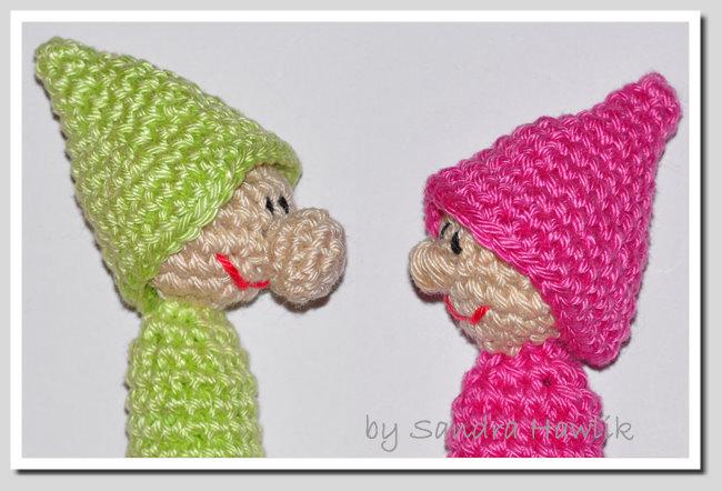 Crochet Pattern English Or German Finger Puppets